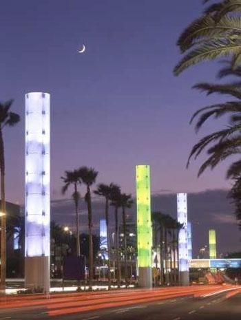 Pylons on Century Boulevard. Photo by Tom Paiva.