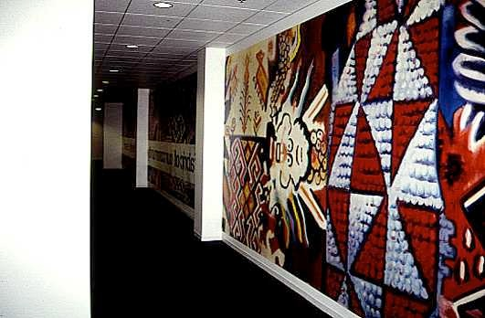 Mural, Oil on Canvas - 5th Floor Hallway, Screen Actors Guild lined with