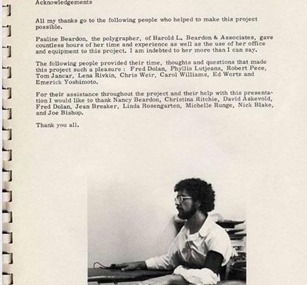 """Polygraph""1977, Documentation DETAILS; Book, 8.5"" x 11"""